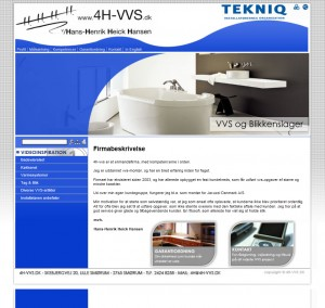 Gammelt websted i HTML format