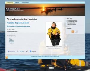 Privatundervisning i havkajak med Paulette